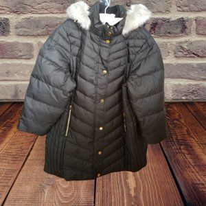 Black Quilted Faux Fur Winter Coat Size 2X